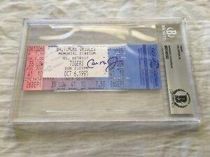 Cal Ripken signed autographed Orioles 1991 Memorial Stadium last game ticket BAS