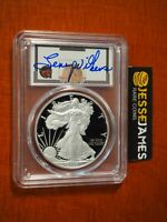 2020 S PROOF SILVER EAGLE PCGS PR70 DCAM FIRST DAY OF ISSUE LENNY WILKINS SIGNED