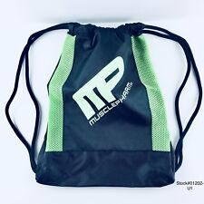 (2) MUSCLE PHARM Cinch String Travel Hiking Gym Tote/Sack multi-use bag pack NEW