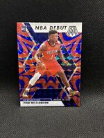 2019-20 Panini Mosaic Zion Williamson Prizm Red Blue Reactive Debut RC Rookie