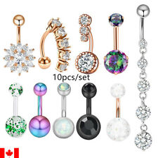 10PCS Belly Button Ring Navel Barbell Piercing Ombligo punk body jewelry sexy