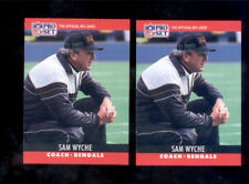 1990 Pro Set SAM WYCHE Cincinnati Bengals Card Lot Error + Correction