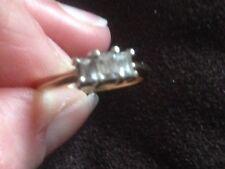 9 ct gold 0.40 Carat Millennium Cut Emerald Cut Diamond Ring, 2.9 g, not scrap