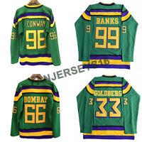 D1 The Mighty Ducks Hockey Jersey #33#44#66#96#99 Charlie Conway Banks Goldberg