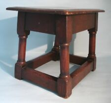 English Antique Oak Georgian Joint Stool. Lovely Color.
