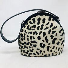Gucci Black Off White Brown Animal Print Calf Hair Bag Purse 369-116-8820