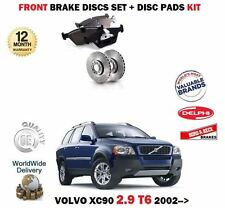FOR VOLVO XC90 T6 2.9 24V 2002->on FRONT AXLE BRAKE DISCS and PADS FULL SET