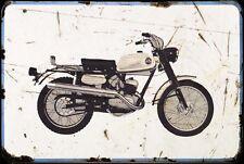 Garelli Kl100 Motorbike Sign Metal Retro Aged Aluminium Bike