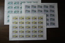 Russia - 1980 Bridges in Moscow - Mi. 5023-25 full sheet MNH