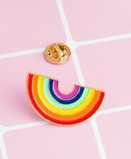 Rainbow LGBT Pride Enamel Lapel Pin Badge