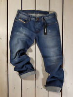 RRP $154 NEW DIESEL MEN'S JEANS ZATINY 0844U REGULAR BOOTCUT STONEWASHED BLUE