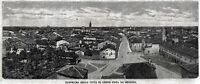 Cento: Panorama. Grande Veduta. Ferrara. Stampa Antica + Passepartout. 1891