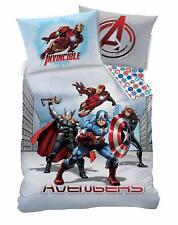 Marvel Avengers City Reversible Duvet Cover Pillow Case Bedding Set Single
