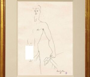 Jean Cocteau Drawing Male Figure Gay French Sailor Navy Sailors Marin Nude