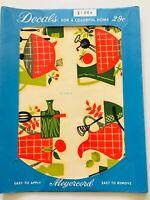 NIP Vintage Meyercord Decals 4- Mid Century Modern Cookware Kitchen X146-A