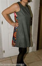 exceptionnelle robe portefeuille soie coton à fleurs ZOÉ LA FÉE taille L 40-42