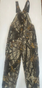 Vintage Camouflage Woolrich Overalls Elastic Strap Exact Size Unknown L/XL