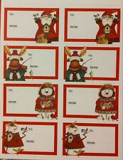 100 Christmas Holiday Gift Tags Classic To & From Snowman Reindeer Santa