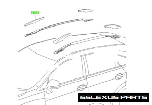 Lexus RX350 RX450H 2010-2015 OEM Genuine Right Front ROOF RACK COVER 63491-0E020