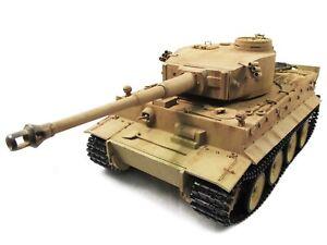 Vollmetall Panzer Panzer Tiger I  Wüstentarn, 1:16, True Sound, 2,4GHz