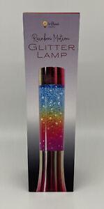 "Rainbow Motion- 13"" Retro Rainbow Colored Glitter Lamp"