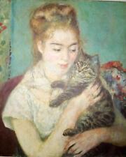 Renoir Woman With Cat, Quality Art Print, Vintage