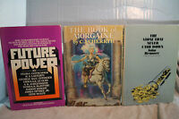 lot vtg old Sci-Fi BOOK OF MORGAINE FUTURE POWER THE STONE THAT NEVER CAME DOWN