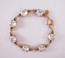Catherine Popesco 14k Gold Plated Med Shade Swarovski Crystals Link Bracelet