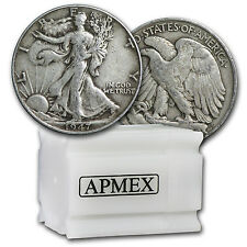 90% Silver Walking Liberty Halves $10 20-Coin Roll XF - SKU #43925