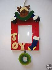 Wood Christmas Reindeer Picture Frame Decoration