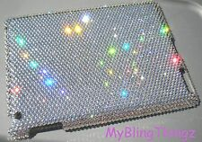 "Bling Case for iPad 9.7"" made with Clear Swarovski Crystals * Black Apple Logo"