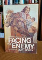 Facing the Enemy by Dean Hughes (1982, Hardcover w DJ) VTG Mormon First Printing