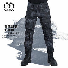 Men Outdoor Tactical Pants Army Military Combat Cargo Camo Combat Trousers
