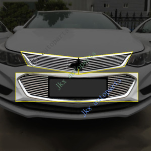 3pcs Front Bumper Upper&Middle Hood Grille k Grill For Chevrolet Cruze 2016-18