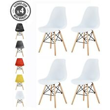 More details for 4x dining chairs modern design retro lounge plastic chairs office chairs, la