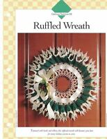 Ruffled Wreath Crochet Single Pattern Vanna White Christmas Door or Wall Decor