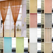 String Curtains Patio Colourful Net Fringe Door Fly Screen Window Divider Cut