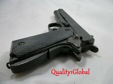 SALE NEWEST DENIX REPLICA 1911 METAL BLACK GRIP 45 MOVIE PROP Hand Gun Training