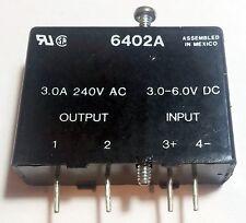 Crydom 3V - 6V Input 240V 3A AC Output Solid State Relay 6402A I/O Module 4V 5V