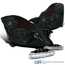 For 2007-2009 Nissan Altima JDM Smoke Headlights Head Lamps+LED Fog Bumper DRL