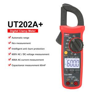 Digital Handheld Clamp Meter AC DC Ohmmeter Capacitance Frequency Tester 600 Amp
