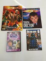 Doctor Who Bundle Sticker Album Collection DVD Magazine Books Souvenir Collector