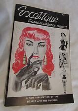 EXOTIQUE #8 Vintage Magazine Bizarre and UnUsual BETTIE PAGE Adult Fashion Theme