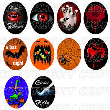 50 Images digitales cabochon HALLOWEEN vampire ovale 30X40 et 18x25 13x18 mm