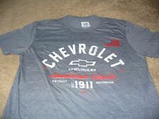Chevrolet Men's Chevy Truck Car USA American Flag Gray GM T-Shirt Size Large L