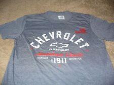 New listing Chevrolet Mens Chevy Truck Car Usa American Flag Gray Gm T-Shirt Size Medium M