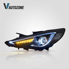 LED Q5 Bi-Projectors Headlight For Hyundai Sonata 2011-2014 Lamps plug play Pair