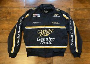 Vintage Rusty Wallace #2 Miller Genuine Draft Racing Jacket Mens Large NASCAR