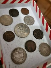 More details for 1700-1900 old coins,norwich token,countermarked halfpenny,silver halfcrown x4