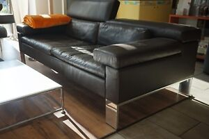 "Jori Funktionssofa Sofa Couch ""Shiva"" JR-3960 195cm Leder Celia bruno"